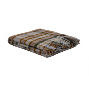 Károvaná vlnená deka...