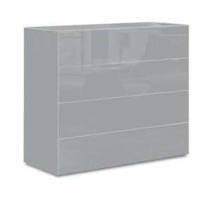 Sklenená komoda Designero sivá