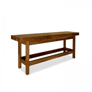 Dubová lavica pred posteľ...